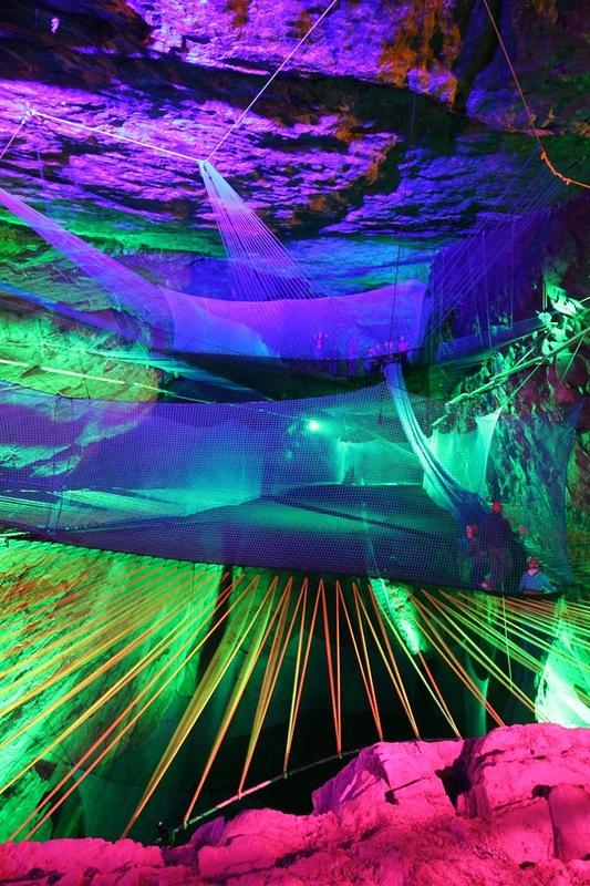 Самый большой подземный батут