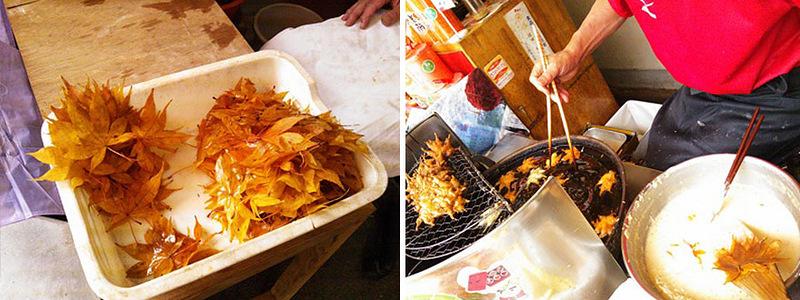 Японское лакомство из листьев клёна