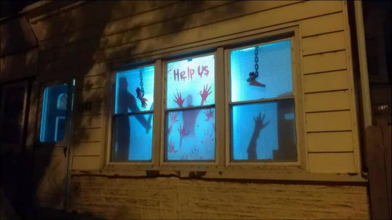 Креативные украшения домов на Хэллоуин