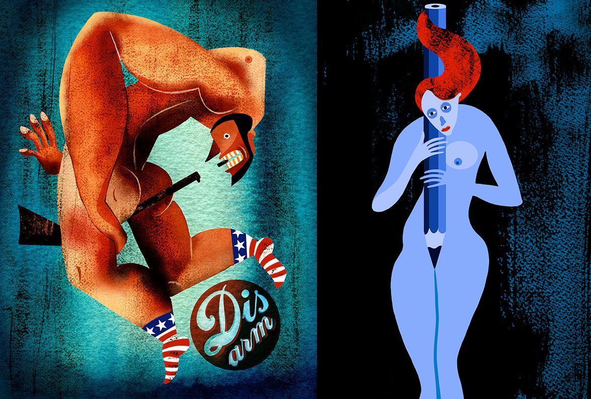 Эротичные иллюстрации Мохаммеда Дэнави