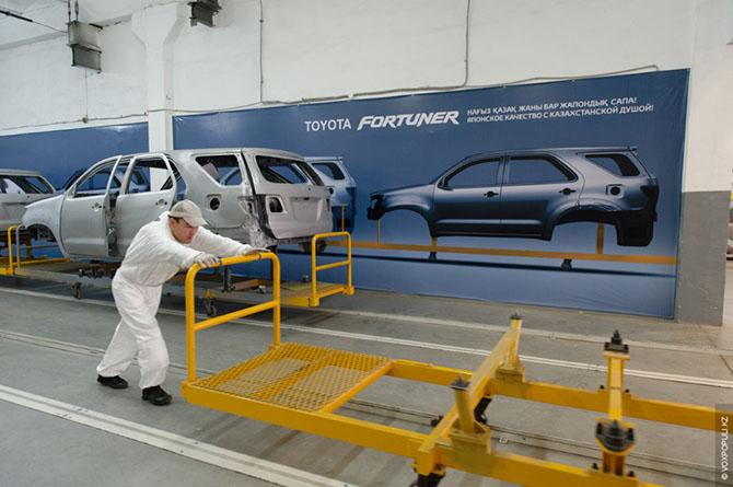 На заводе Toyota в Казахстане