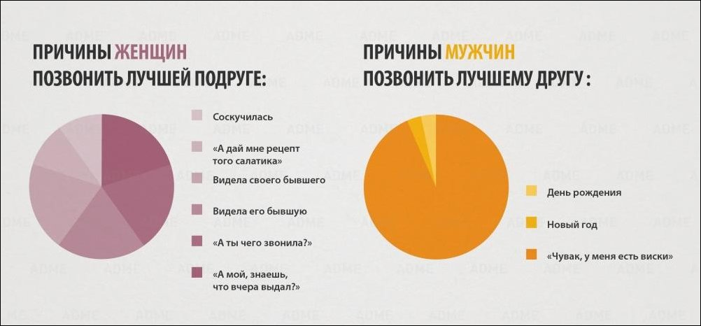 Инфографика о мужчинах и женщинах