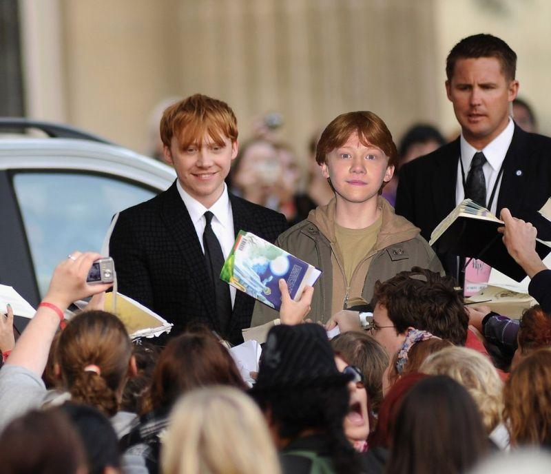 Актеры Гарри Поттера на премьере первого и последнего эпизодов