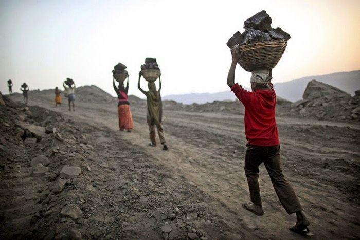 Угольные шахты в индийском штате Джаркханд