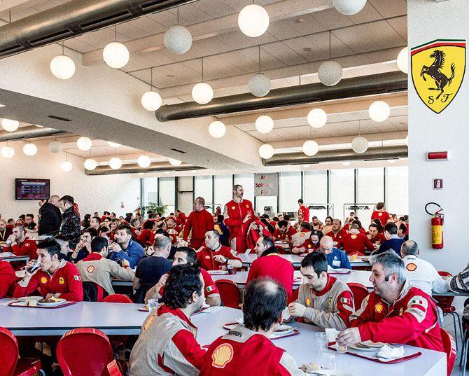 На заводе Ferrari в Маранелло