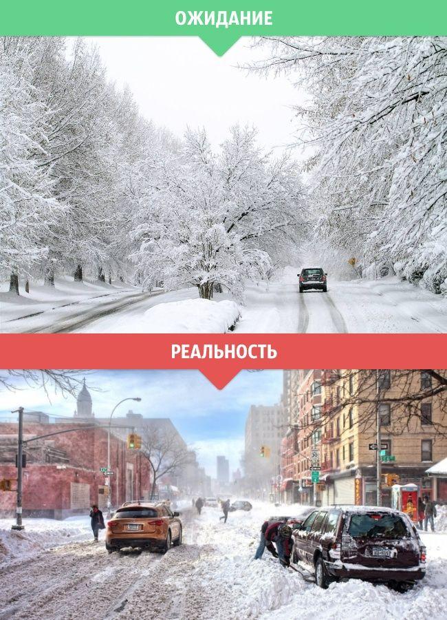 Зимняя пора: ожидание и реальность