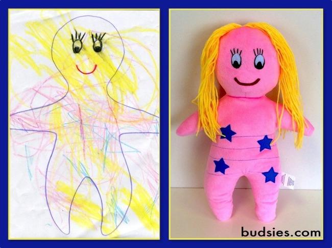 Игрушки, сшитые по детским рисункам