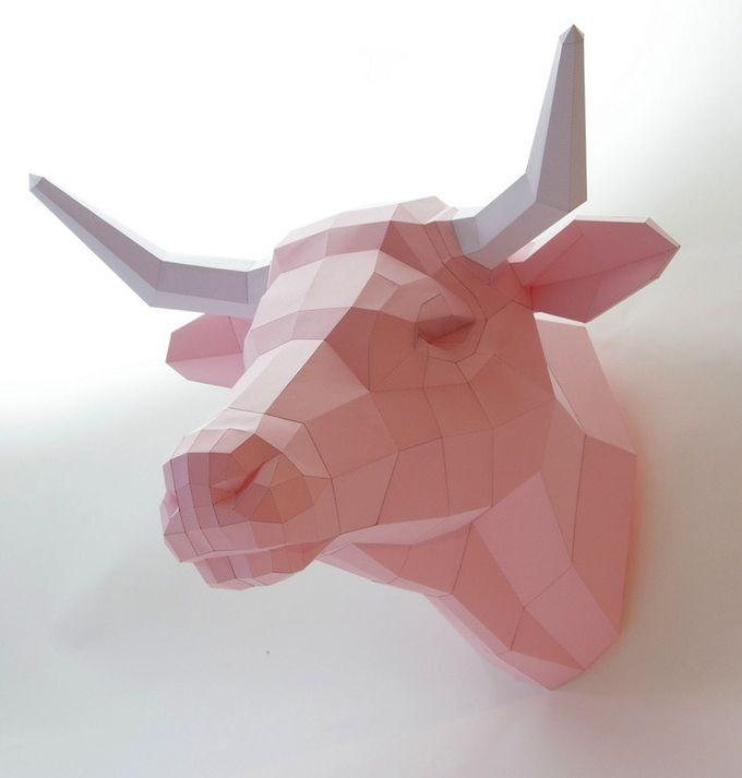 Бумажные скульптуры от Paperwolf