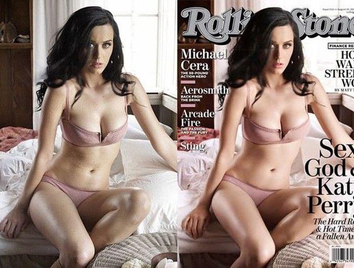Фото: до и после фотошопа