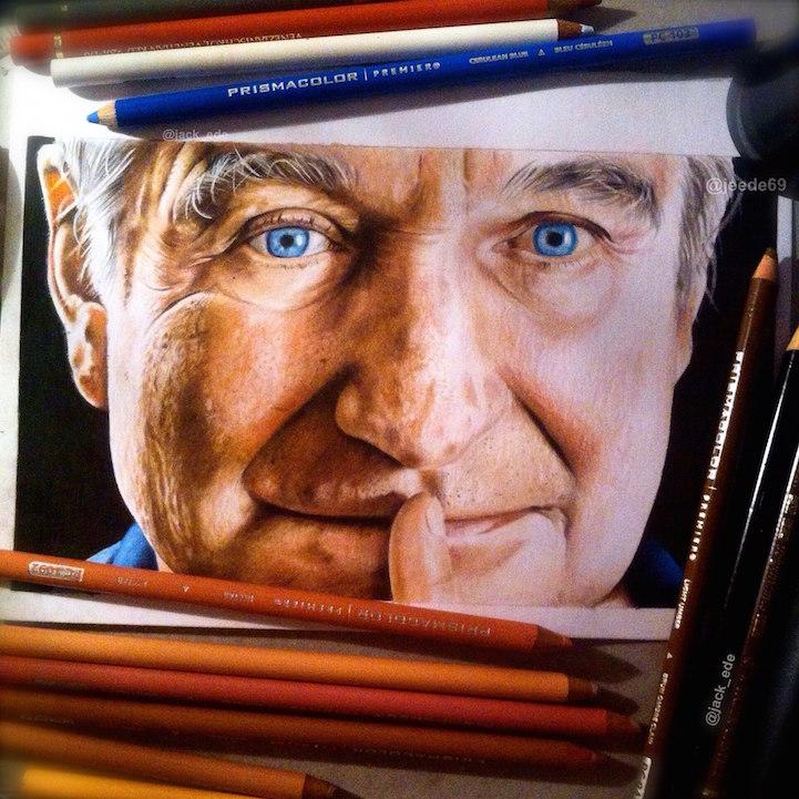 Реалистичные портреты звезд Jack Ede