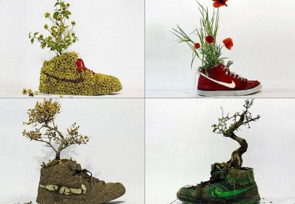 Цветочные кроссовки
