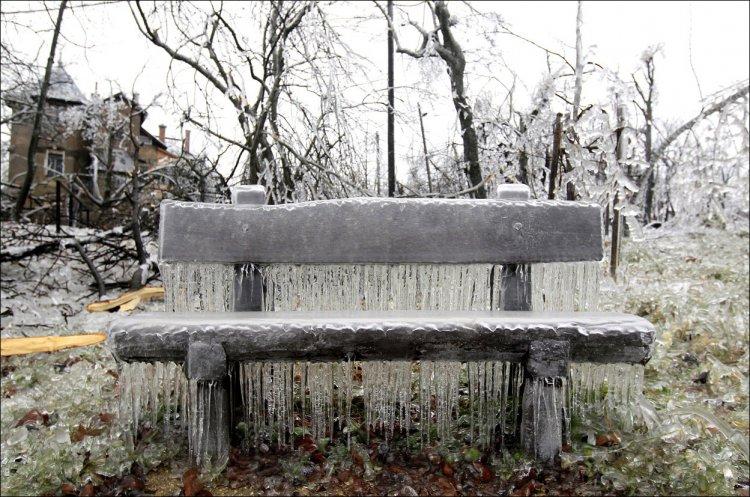 Ледяной дождь в Германии, Австрии и Венгрии