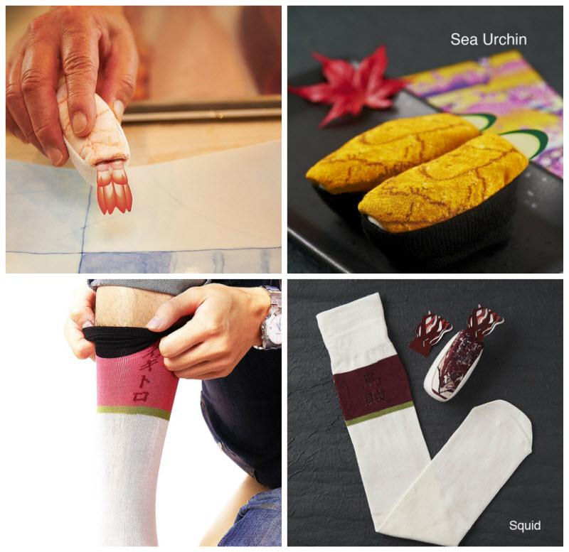 Носки в виде суши