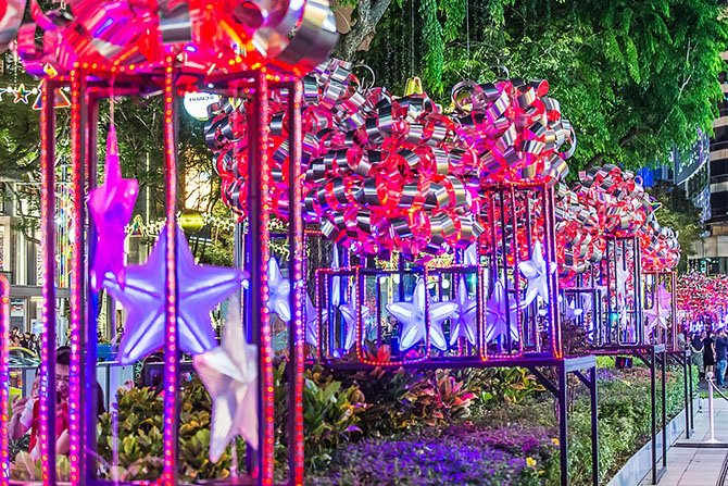 Знаменитая улица Сингапура – Orchard Road перед Рождеством