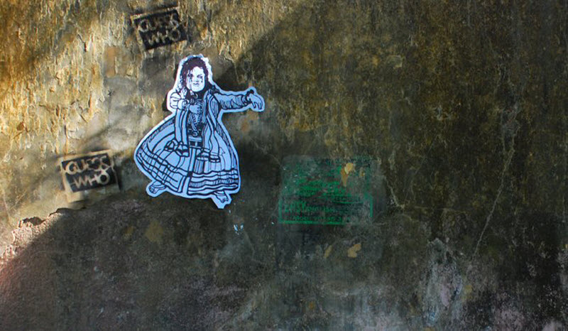 Граффити в индийском городе Коччи