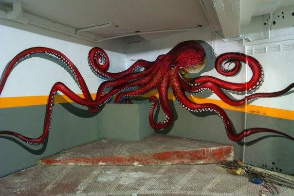 Уличные 3D рисунки португальца Odeith