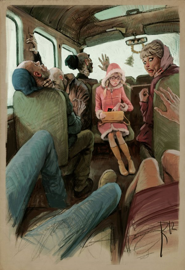 Стильные иллюстрации с уклоном в карикатуру