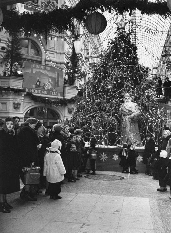 Новогодние фотографии из СССР 1950-х