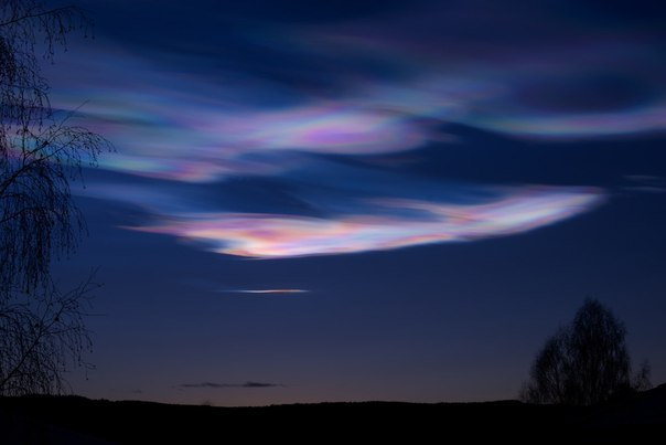 Перламутровые облака в Норвегии