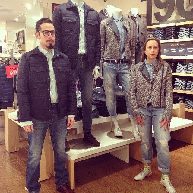 Во время шоппинга жены