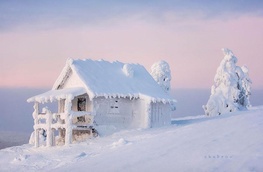 Заснеженные домики из разных стран