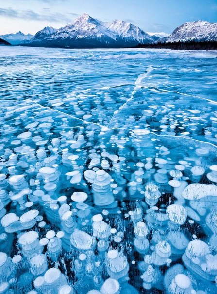 Покрытые льдом озёра и водоёмы