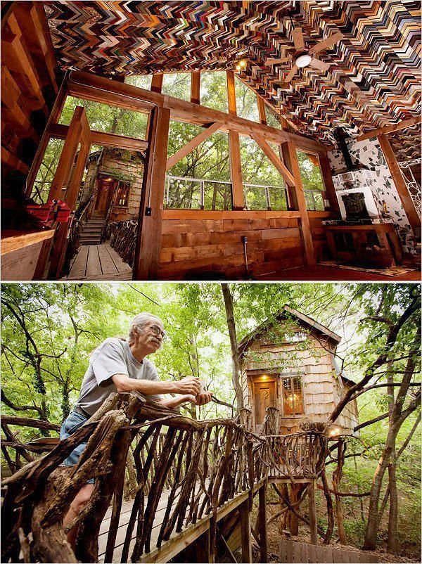 Unusual houses built from unnecessary things.