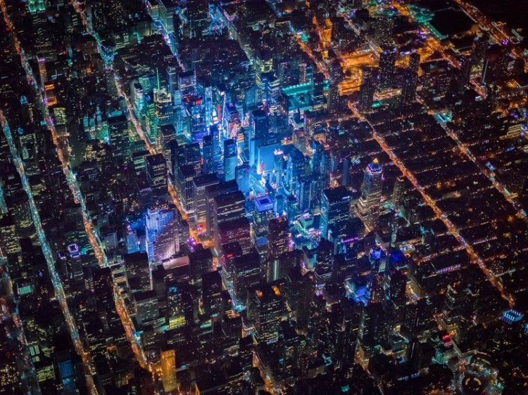 Нью-Йорк с двухкилометровой высоты