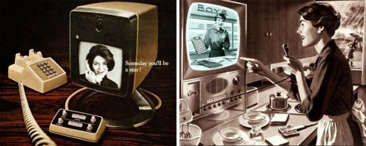 Фантастические видеофоны будущего из прошлого