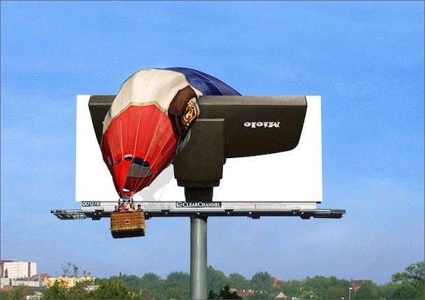 Креативная реклама не остаётся незамеченной