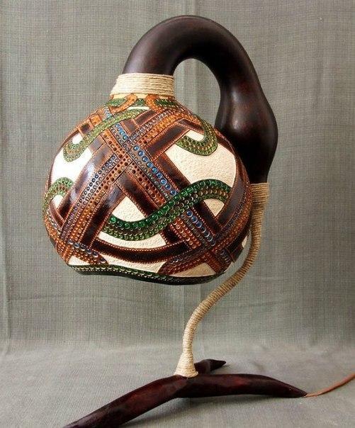Светильники из африканской тыквы