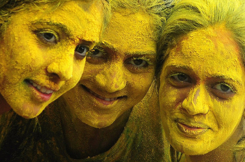 Холи — фестиваль красок в Индии