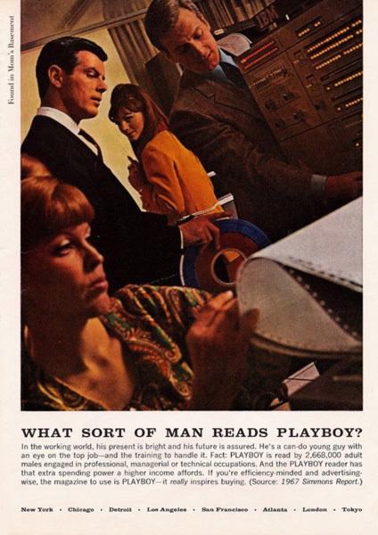 Реклама Playboy в 1972 году