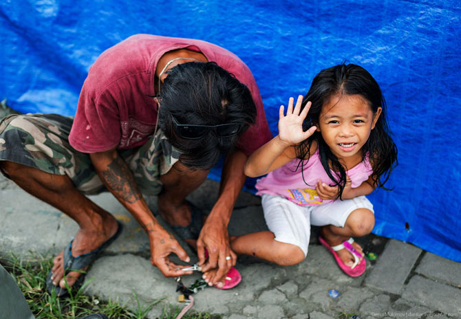 Жизнь в трущобах Манилы