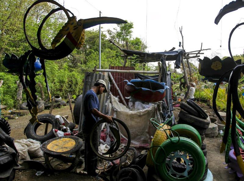 Вторая жизнь старых покрышек в Никарагуа