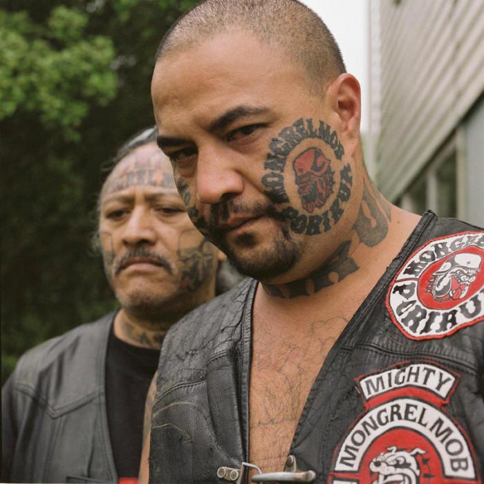 Члены банды Монгрел Моб из Новой Зеландии