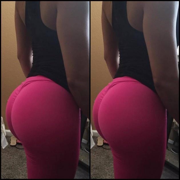Красивые девушки в штанах для йоги