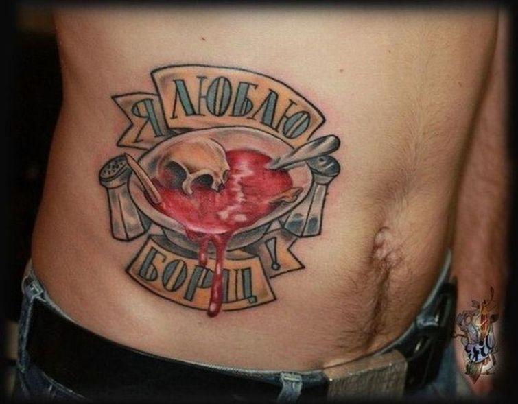 Необычные татуировки с любимой едой