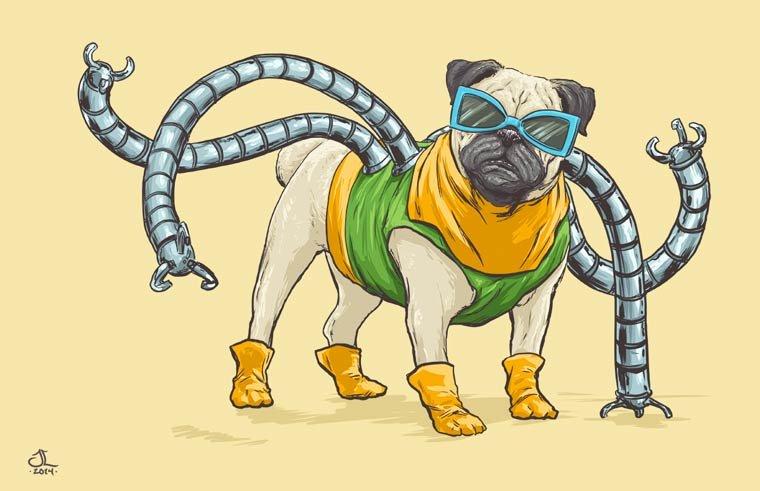 Собаки в роли супергероев