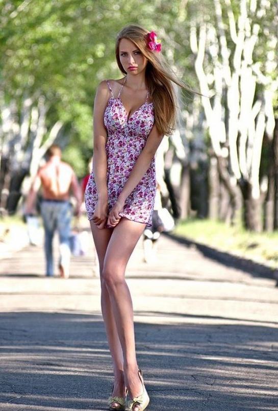 девушки в летних платьях фото