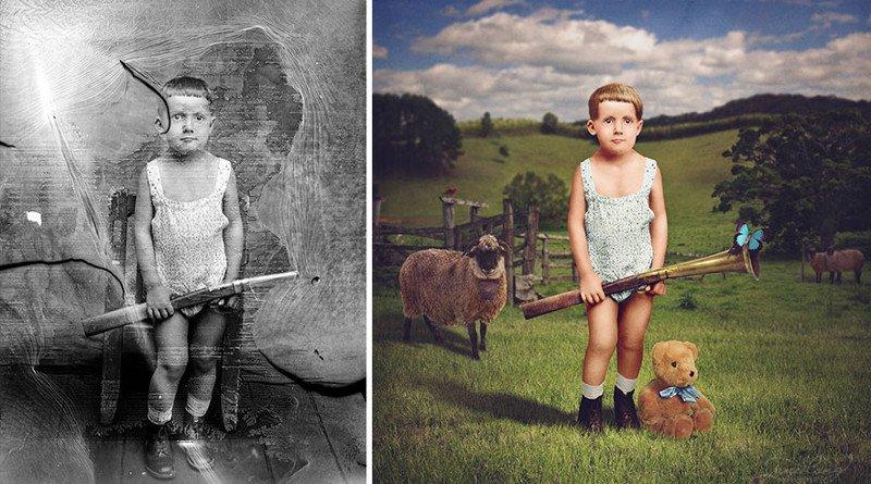 Как сделать в фотошопе 20 века