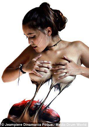 Боди-арт и удивительные метаморфозы с женскими телами