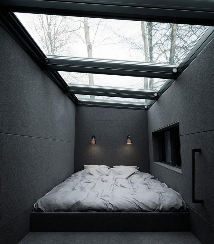 Модульный дом для загородного отдыха площадью 55 кв. метров