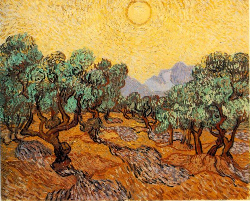 Гигантская копия картины Ван Гога на поле