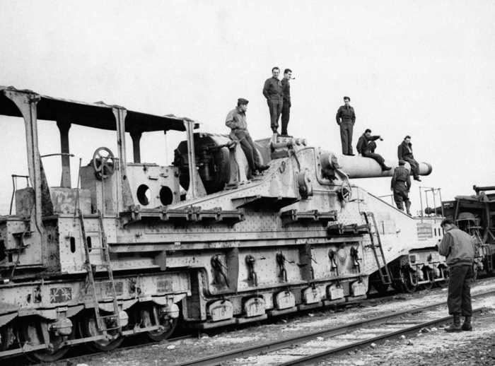 Железнодорожные орудия минувших дней