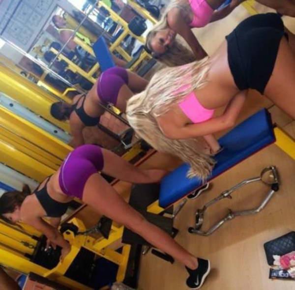 Сексуальные девушки любят спорт