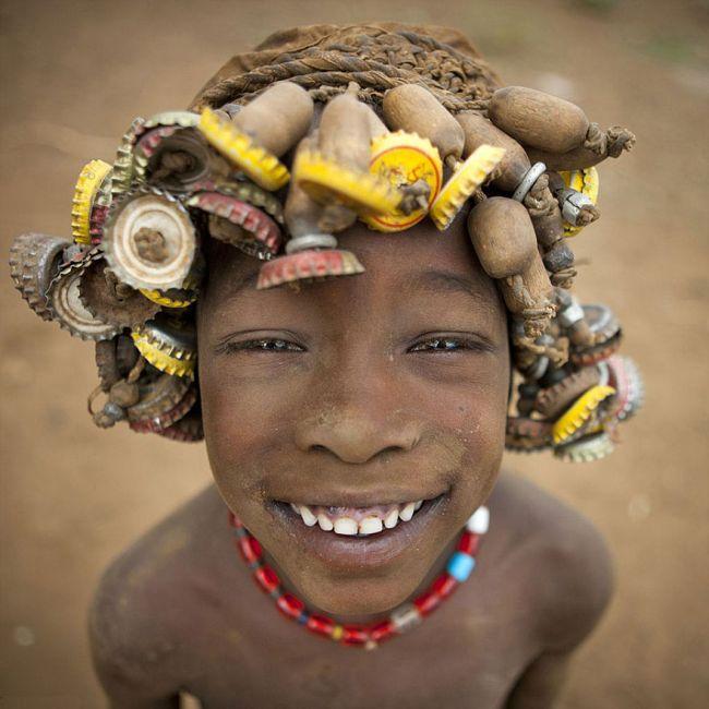 Украшения из мусора в Эфиопии