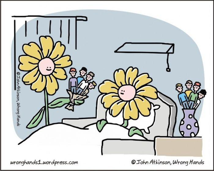 Веселые комиксы на злобу дня от Джона Аткинсона
