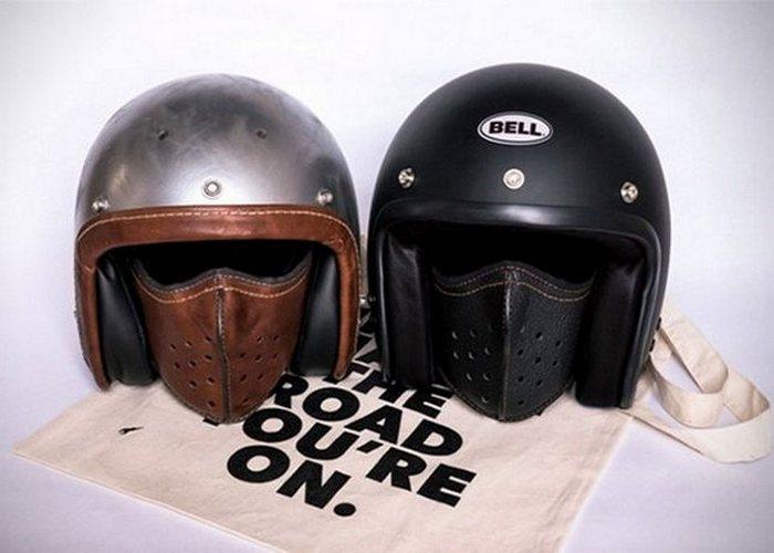 Кожаные маски как альтернатива мотошлему