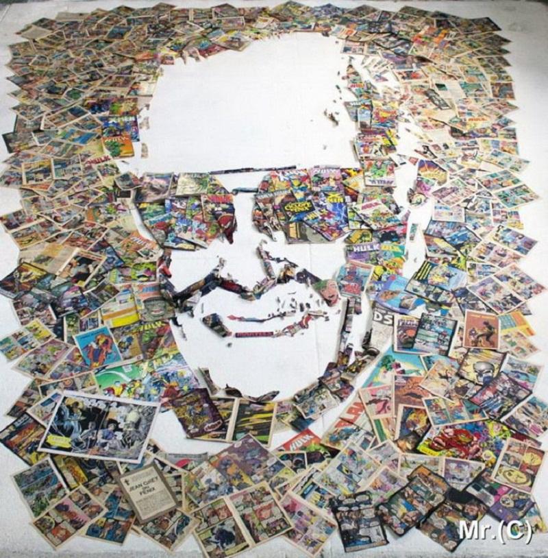 Реалистичные портреты знаменитостей из подручных предметов